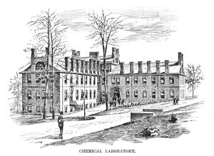 LEHIGH UNIVERSITY, 1888. The chemistry laboratory at Lehigh University in Bethlehem