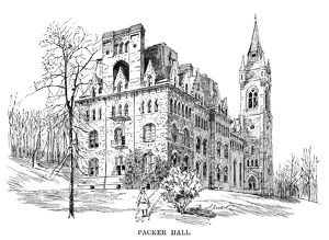 LEHIGH UNIVERSITY, 1888. Packer Hall at Lehigh University, named for founder Asa Packer