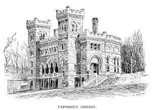 LEHIGH UNIVERSITY, 1888. The university library at Lehigh University in Bethlehem