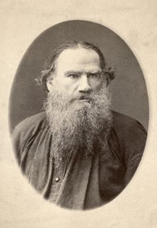 LEO TOLSTOY (1828-1910). Russian novelist and philosopher. Original cabinet photograph