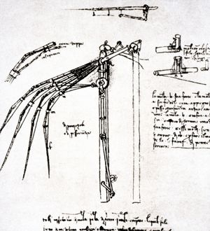 Leonardo da Vinci. Flying machine.