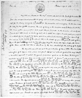 Letter of James Madison from the Constitutional Convention at Philadelphia to Thomas