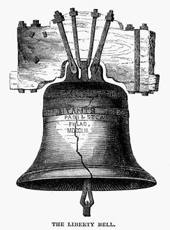LIBERTY BELL. The Liberty Bell from Independence Hall in Philadelphia, Pennsylvania