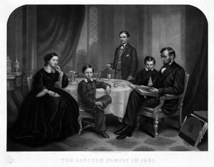 presidents/lincoln family 1861 president abraham lincoln