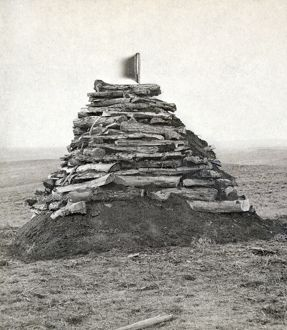LITTLE BIGHORN MONUMENT. Monument on Custer's Hill, containing all the bones