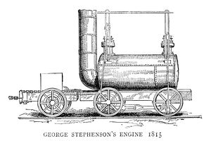 LOCOMOTIVE, 1815. Steam locomotive built by George Stephenson, 1815. Engraving