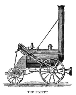 LOCOMOTIVE: ROCKET, 1829. George Stephenson's 'Rocket,' the winner of