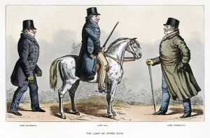 LONDON, c1815. 'The light of other Days: Lord Alvanley, Lord Hill, Lord Yarmouth