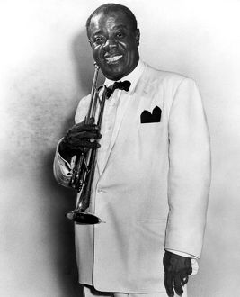 LOUIS ARMSTRONG (1900-1971). American jazz musician.
