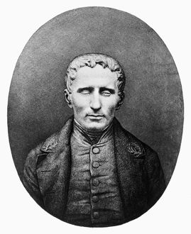 LOUIS BRAILLE (1809-1852). French teacher of the blind