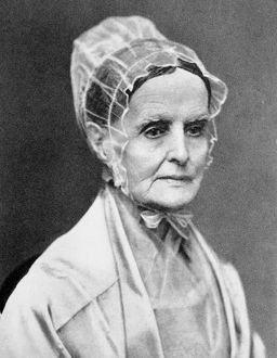 LUCRETIA COFFIN MOTT (1793-1880). American Quaker minister and woman-suffrage advocate.