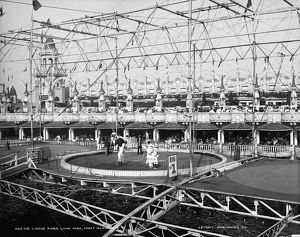 LUNA PARK, CIRCUS, c1900. The circus rings at Luna Park, Coney Island in Brooklyn