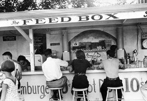 The luncheonette at Buckeye Lake Amusement Park, Ohio. Photograph by Ben Shahn, 1938.
