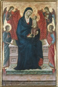 MADONNA AND CHILD. 'The Virgin and Child with Four Angels.' Tempera on wood