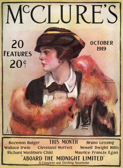 MAGAZINE: McCLURE'S, 1919. Front cover of McClure's Magazine, October 1919