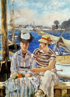MANET: BOATERS, 1874. Argenteuil, The Boaters. Oil on canvas by Edouard Manet.