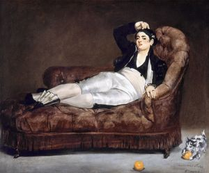 MANET: SPANISH COSTUME. Young Woman Reclining in Spanish Costume. Oil on canvas, 1862.