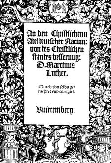 religion/manifesto 1520 title page second edition martin
