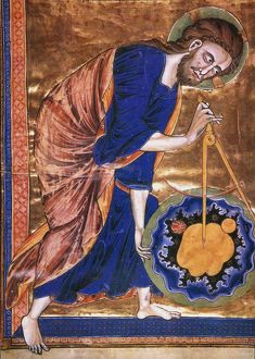 MANUSCRIPT ILLUMINATION. God as the great Architect of the Universe