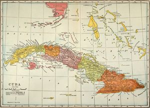 MAP: CUBA, 1900. Map of Cuba printed in the United States, c1900.