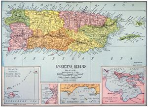 MAP: PUERTO RICO, 1900. /nMap of Puerto Rico printed in the United States, c1900