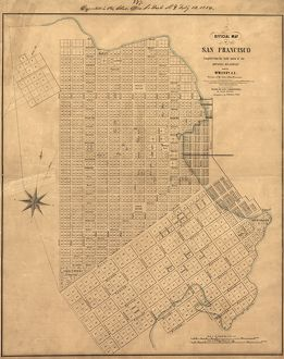 us cities/map san francisco 1849 official map san