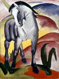 MARC: GREY HORSE, 1911. The Grey Horse I. Painting by Franz Marc.