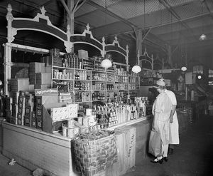 finance commerce/market c1916 sa gatte dry goods stand photograph