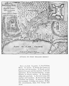 The Marquis de Montcalm's attack on Fort William Henry, Lake George, New York, 4-9 August 1757