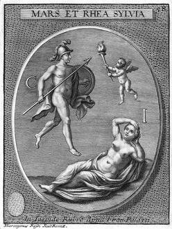 MARS AND RHEA SILVIA. The Vestal Virgin Rhea Silvia, mother of Romulus and Remus
