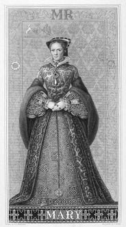 british monarchy/mary i 1516 1558 queen england ireland etching
