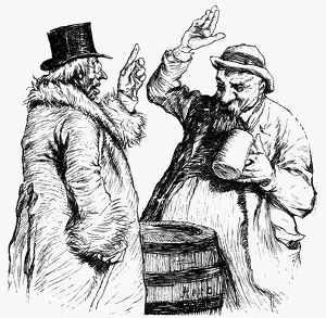food drink/men drinking 1900 drawing attributed swedish