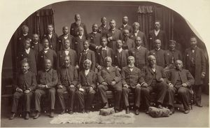 METHODIST CONFERENCE, 1891. The African-American delegates to the Second Ecumenical
