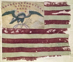 MEXICAN WAR: U.S. FLAG. Eagle Flag of U.S. Company 1, carried in the Mexican-American War