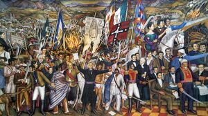 MEXICO: 1810 REVOLUTION. 'The Cry of Dolores,' Miguel Hidalgo's call to revolt