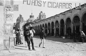 MEXICO, c1890. A market in Aguascalientes, Mexico. Photograph by William Henry Jackson