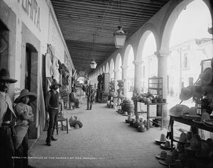 MEXICO, c1890. Portales of the market of San Marcos in Aguascalientes, Mexico