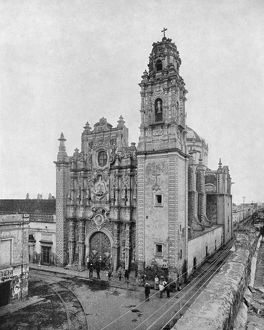 MEXICO: CHURCH, c1890. La Santisima Church in Mexico City, Mexico. Photograph, c1890