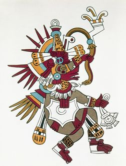 MEXICO: QUETZALCOATL. God and legendary ruler of the Toltecs in Mexico