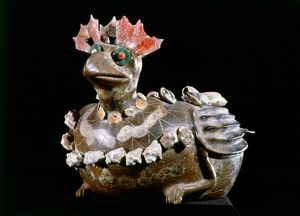 MEXICO: TEOTIHUACAN. Ceramic vase in the shape of a turkey, from Teotihuacan, Mexico