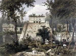 MEXICO: TULUM, 1844. The castle at the Mayan ruins of Tulum on the Yucatan Pensinsula