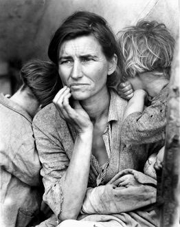 MIGRANT MOTHER, 1936. Florence Thompson, a 32-year-old migrant worker and mother of seven