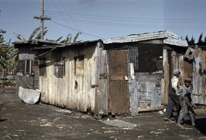 MIGRANT WORKERS, 1941. Shacks of African American migrant workers in Belle Glade, Florida