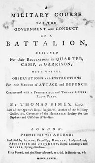MILITARY TEXT BOOK, 1777. 'A Military Course