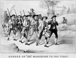 MINUTEMEN: HEROES OF 1776. 'Heroes of ''76,' Marching to the Fight