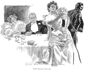 'Eight Minutes After One.' Drawing, c1900, by Charles Dana Gibson.