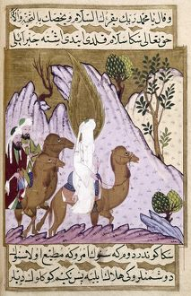 MOHAMMED (570-632). Arabian prophet and founder of Islam. Mohammed with Abu Bakr