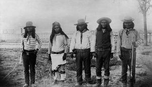 MOHAVE CHIEFS, 1887. Four Mohave chiefs in Arizona