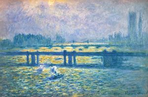 MONET: CHARING CROSS Bridge, London. Oil on canvas, 1901-04.