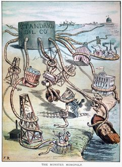 'Monster Monopoly.' American cartoon, 1884, attacking John D
